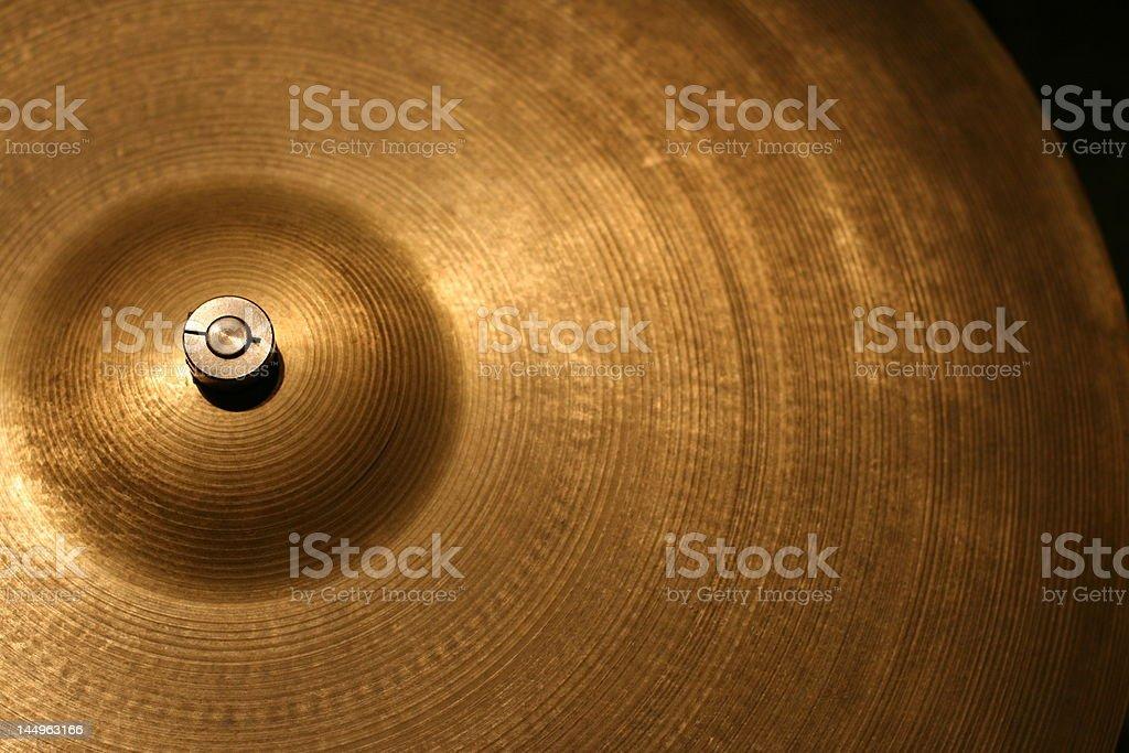 Cymbal Close up royalty-free stock photo