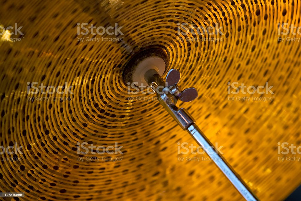 Cymbal Detail royalty-free stock photo