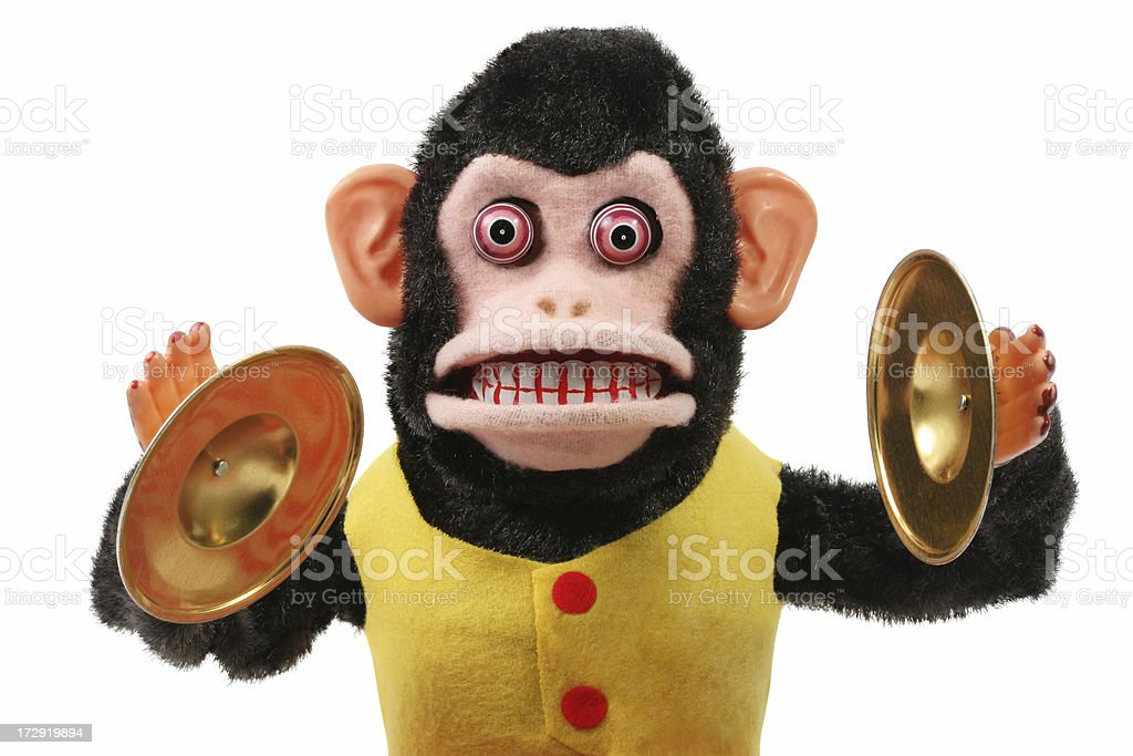Cymbal Playing Monkey stock photo