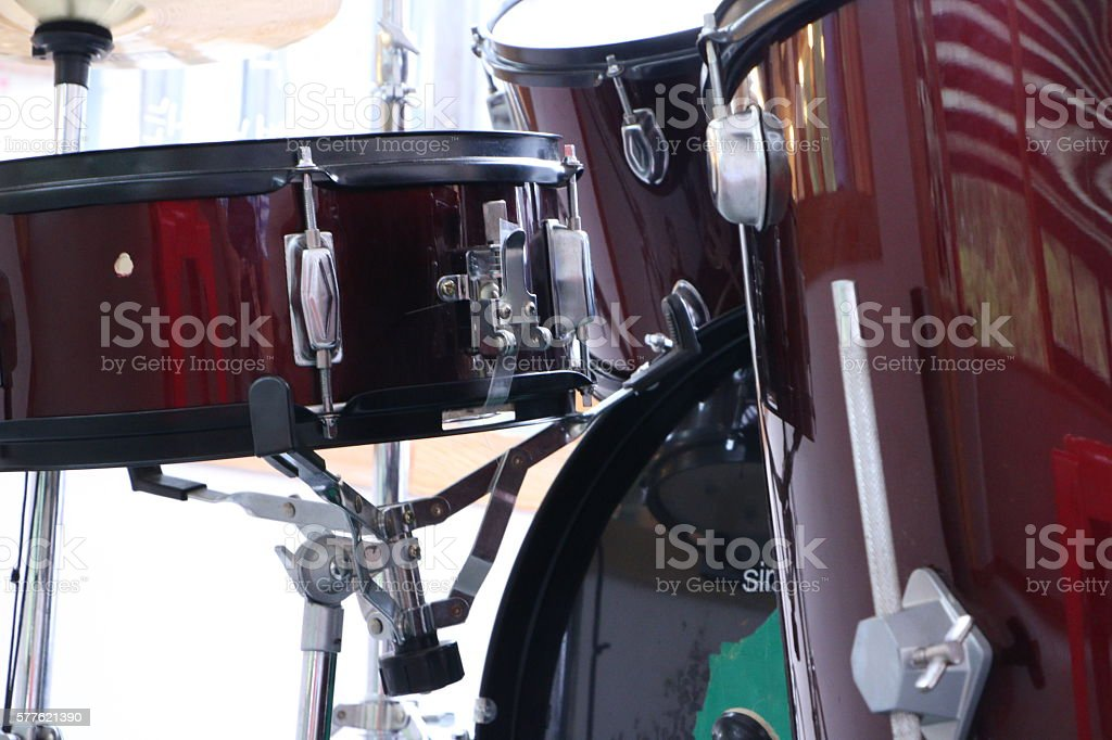 Cymbal stand, drum Bench stock photo