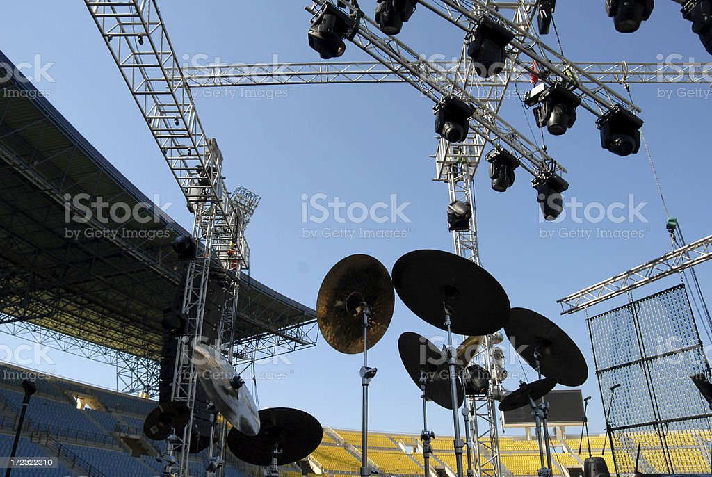 Cymbals and Lights royalty-free stock photo