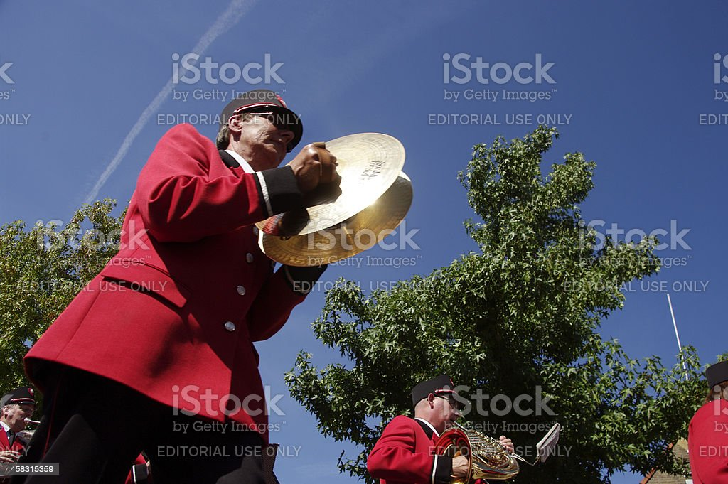 Cymbals in the band royalty-free stock photo