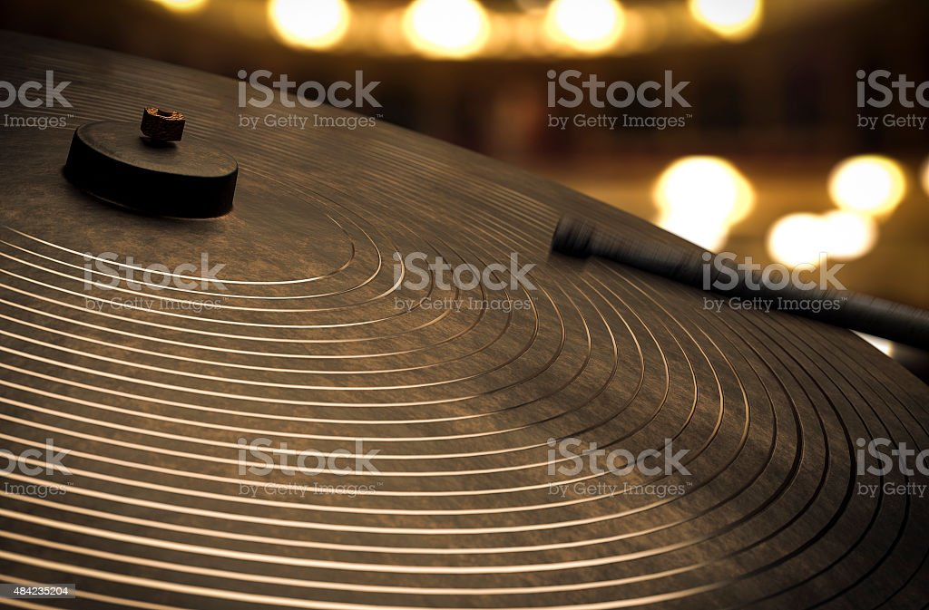 Cymbals - Music conceptual image stock photo