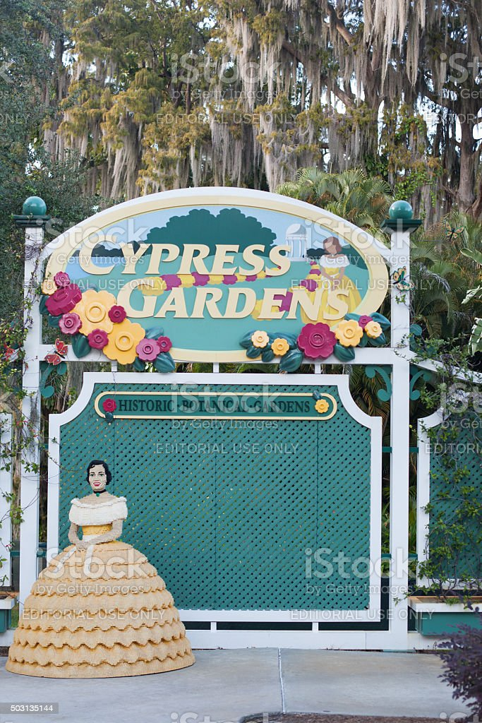 Cypress Gardens stock photo