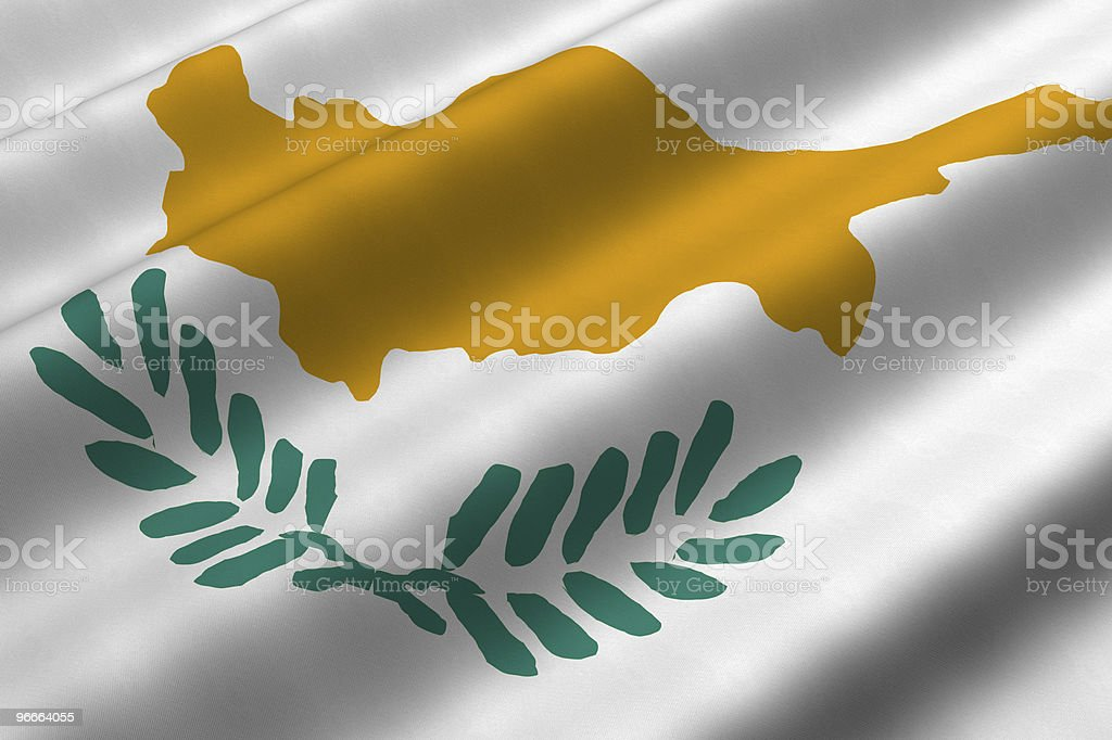 Cypriot Flag royalty-free stock photo