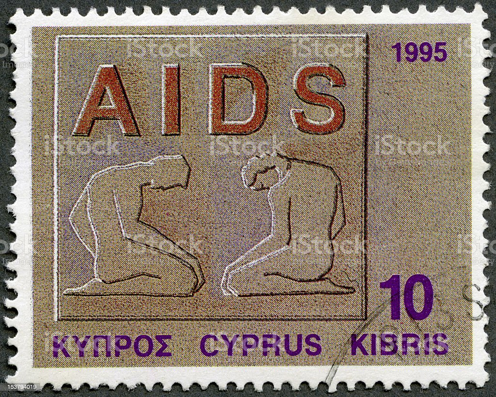 Cyprus 1995 Fight against AIDS, series Health royalty-free stock photo