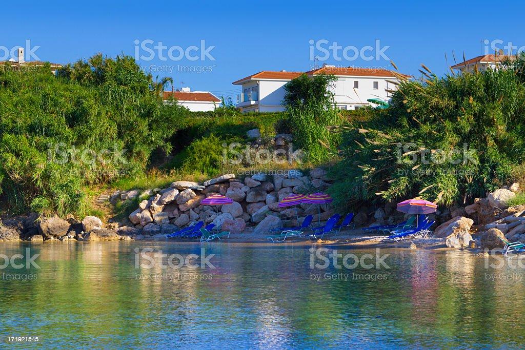 Cyprus beach stock photo