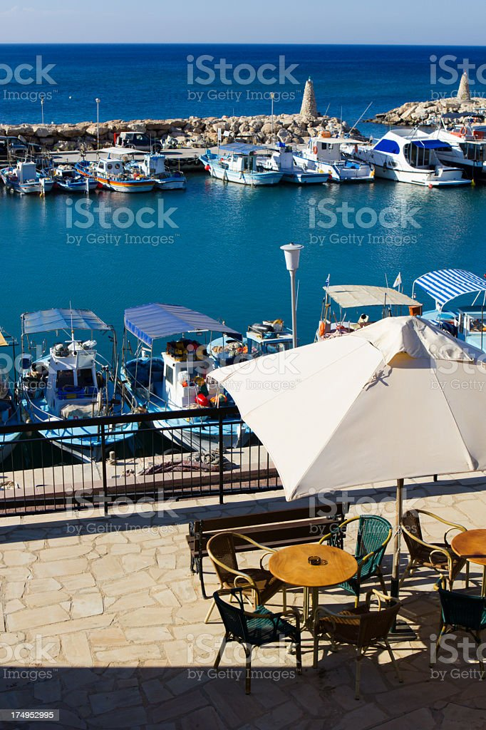 Cyprus cafe royalty-free stock photo
