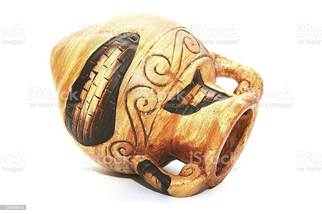 Cyprus ceramic jug stock photo