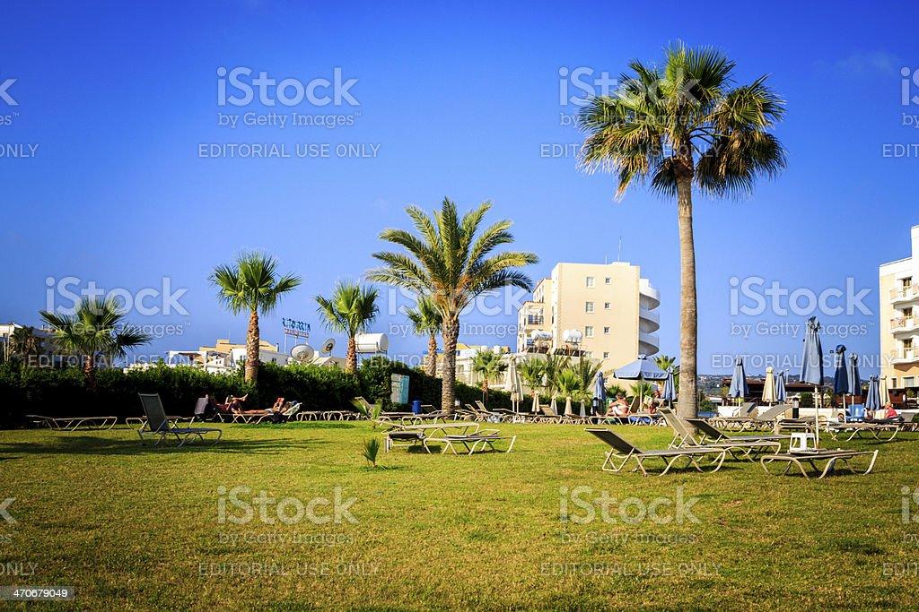 Cyprus hotel stock photo
