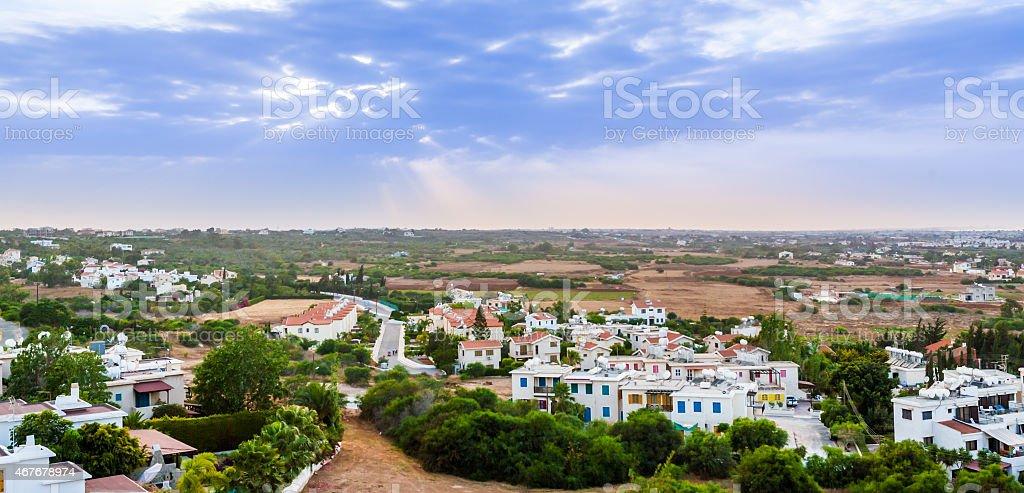 Cyprus island aerial view stock photo