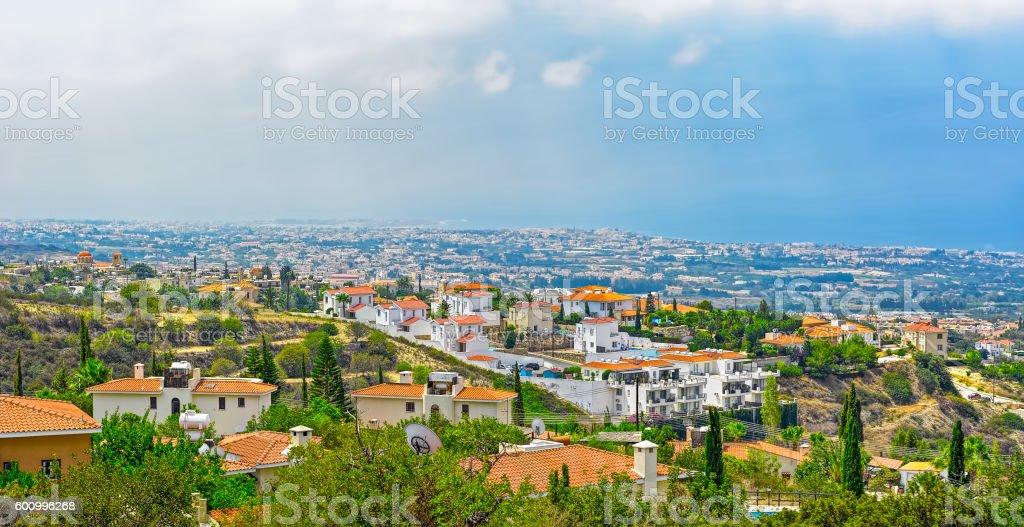 Cyprus modern villas stock photo