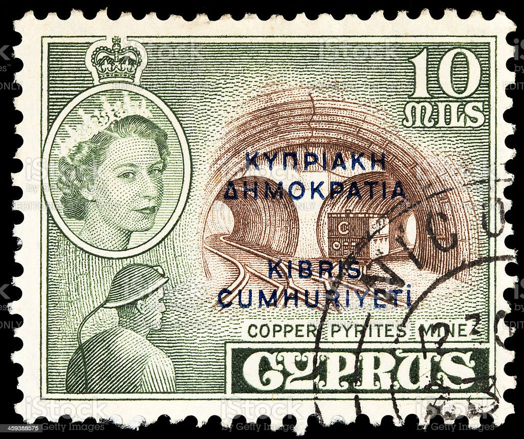 Cyprus Postage Stamps stock photo