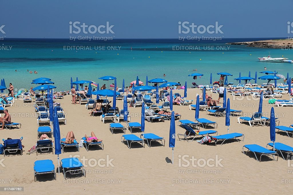 Cyprus tourists stock photo