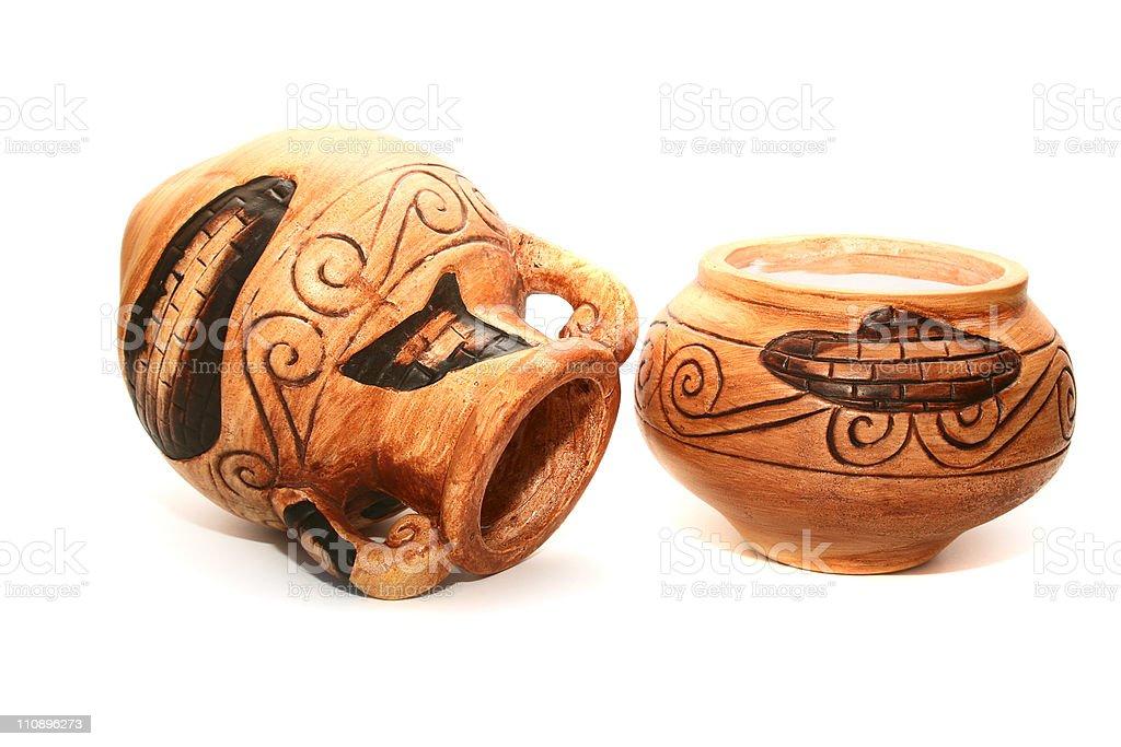 Cyprus vases stock photo