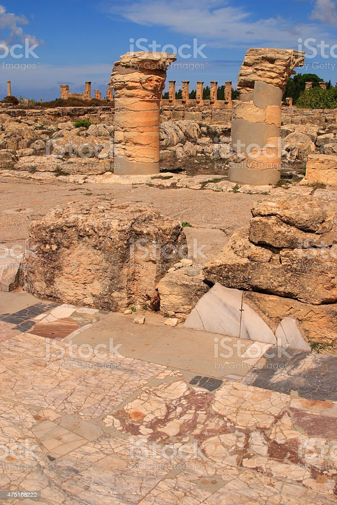 Cyrene archaeological site, Cyrenaica, Libya - UNESCO World Heritage Site. stock photo