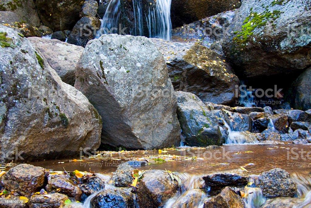 Cyrstal Falls in Autumn stock photo