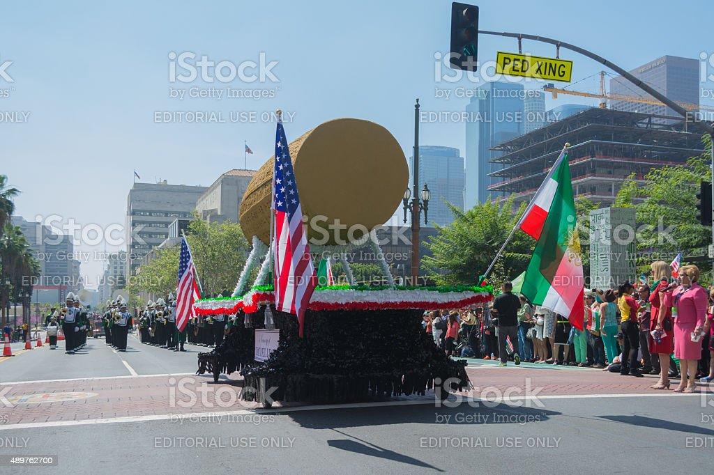 Cyrus Cylinder parade float stock photo