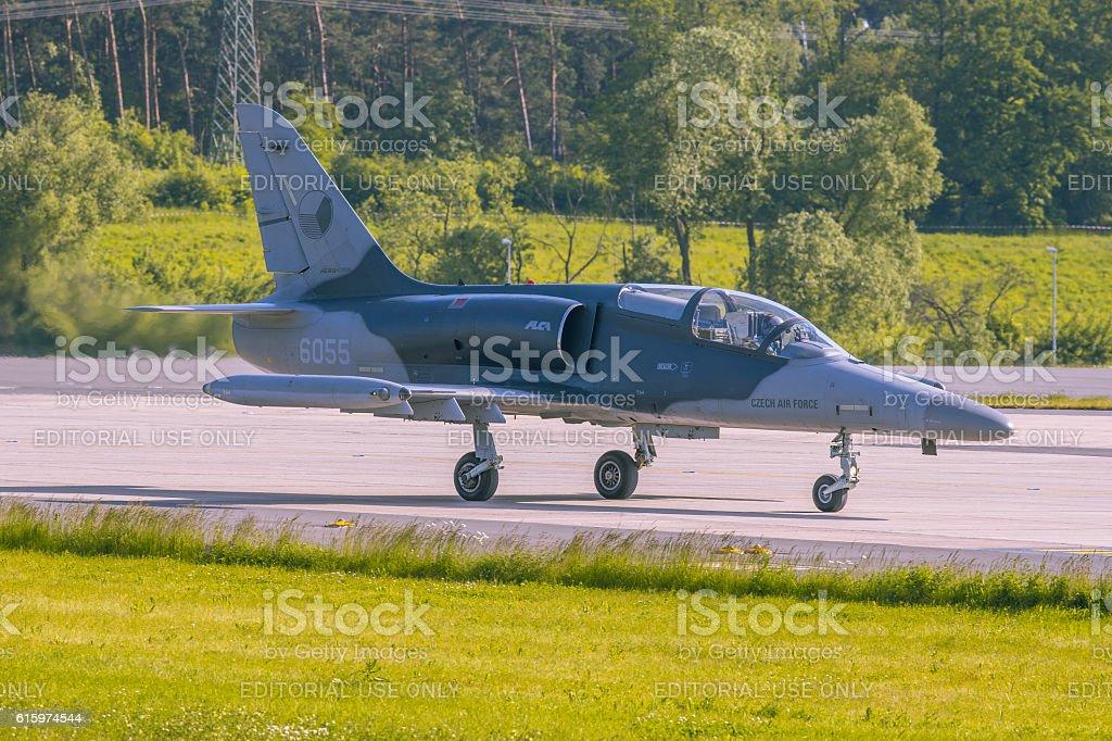 Czech Air Force Aero L-159 at ILA 2014 stock photo