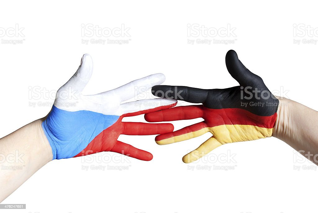 czech and german hand royalty-free stock photo