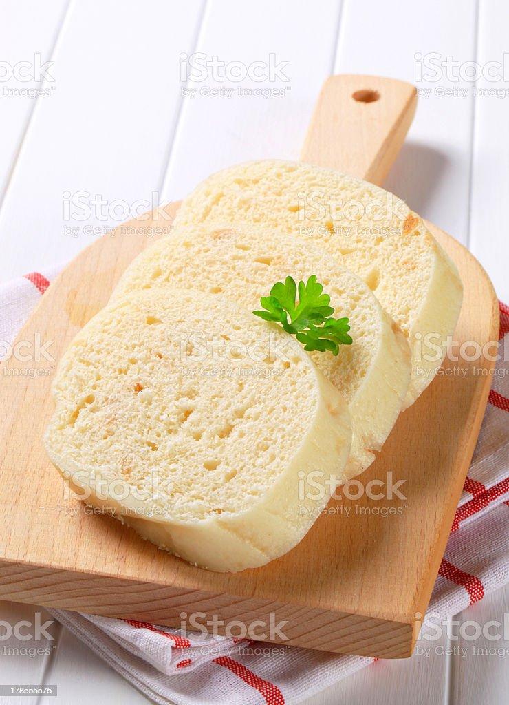 Czech bread dumplings royalty-free stock photo