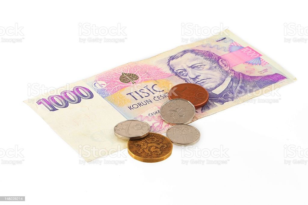Czech currency royalty-free stock photo