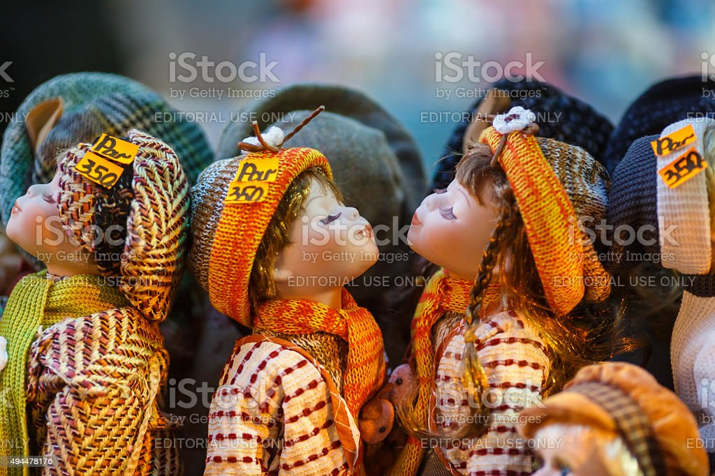 Czech dolls stock photo
