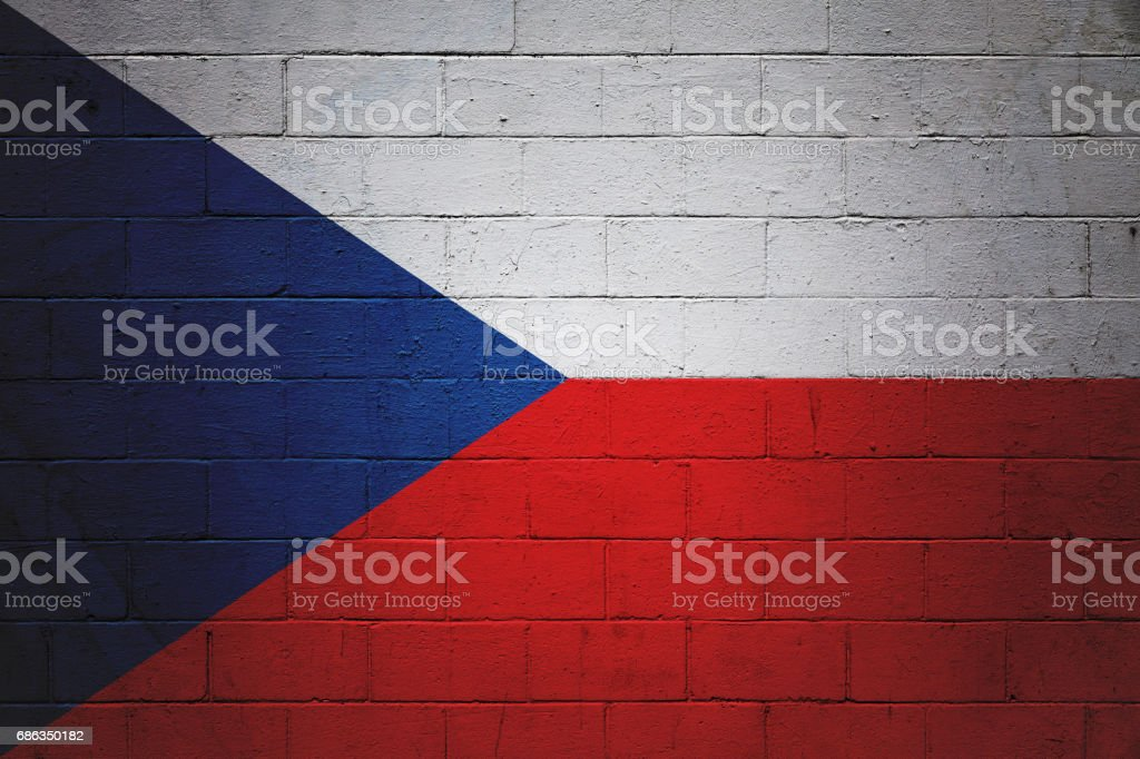 Czech flag painted on a wall – Foto