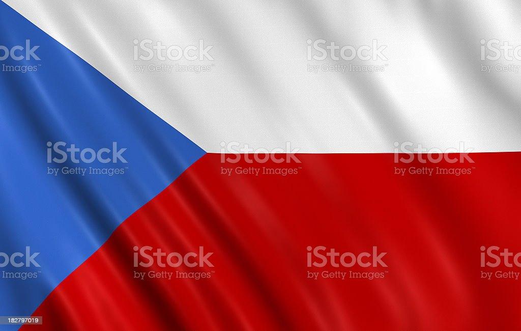 czech flag stock photo