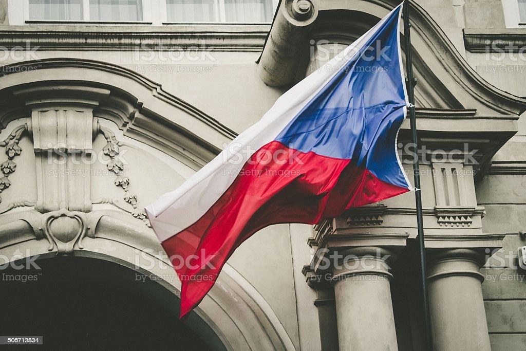 Czech flague stock photo