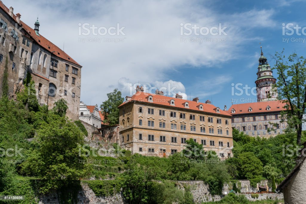 Czech Krumlov in the summer, Czechia stock photo