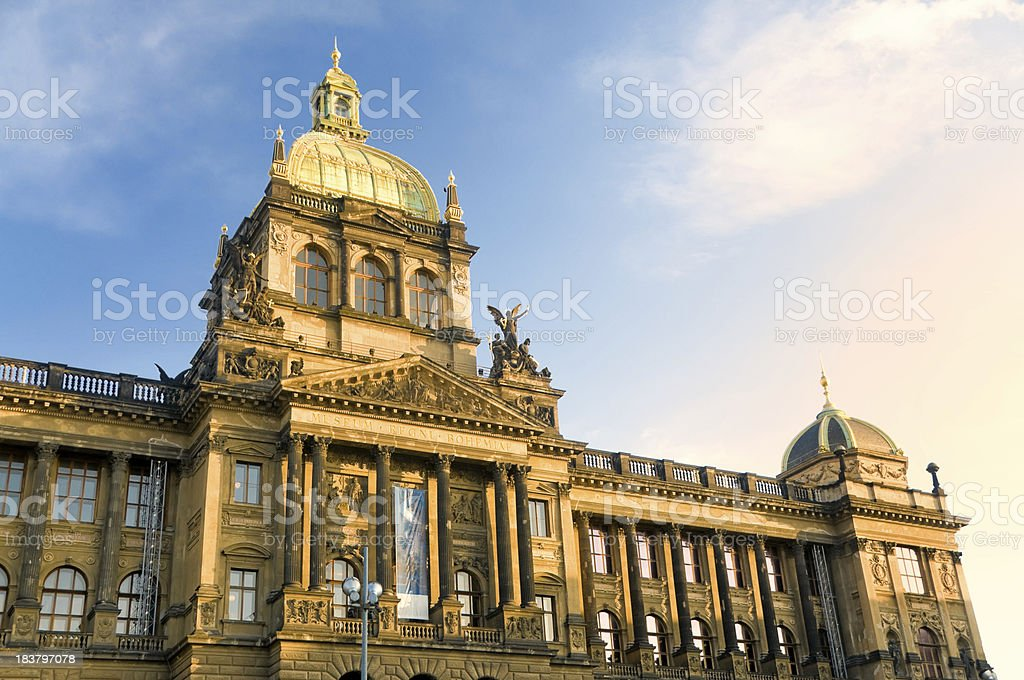 Czech national museum in Prague royalty-free stock photo