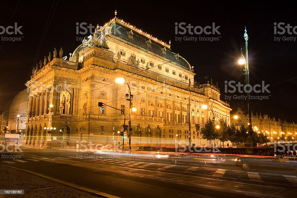 Czech national theatre royalty-free stock photo