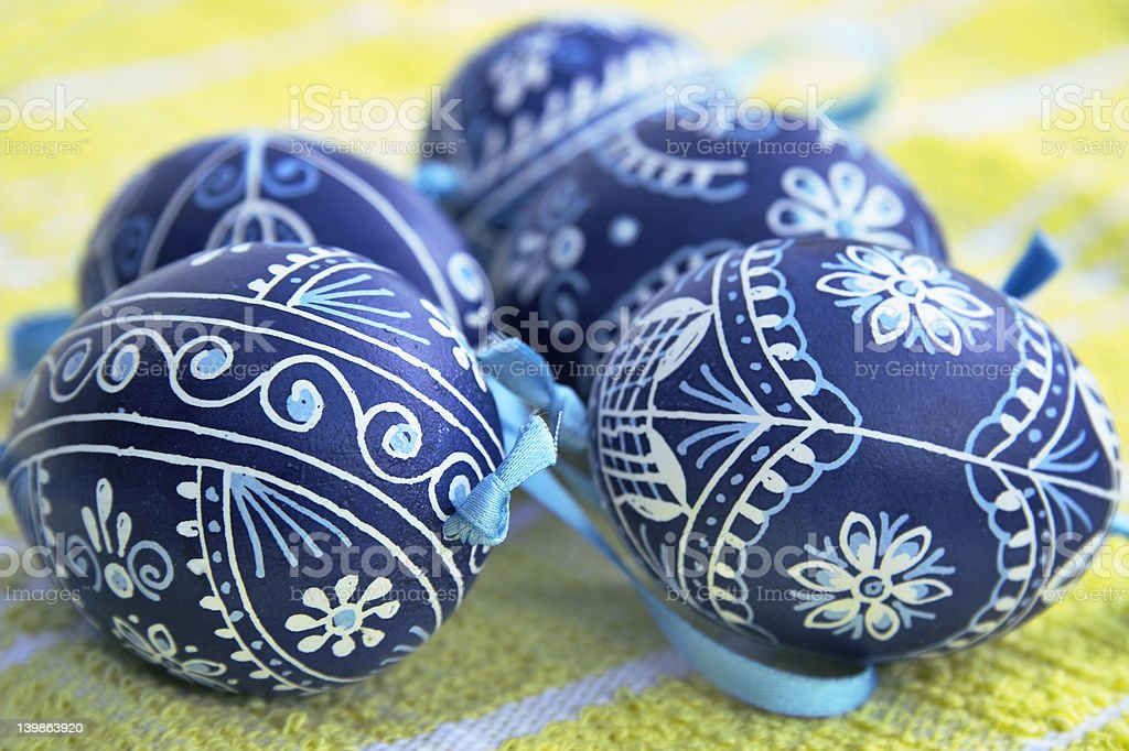 czech painted eggs royalty-free stock photo