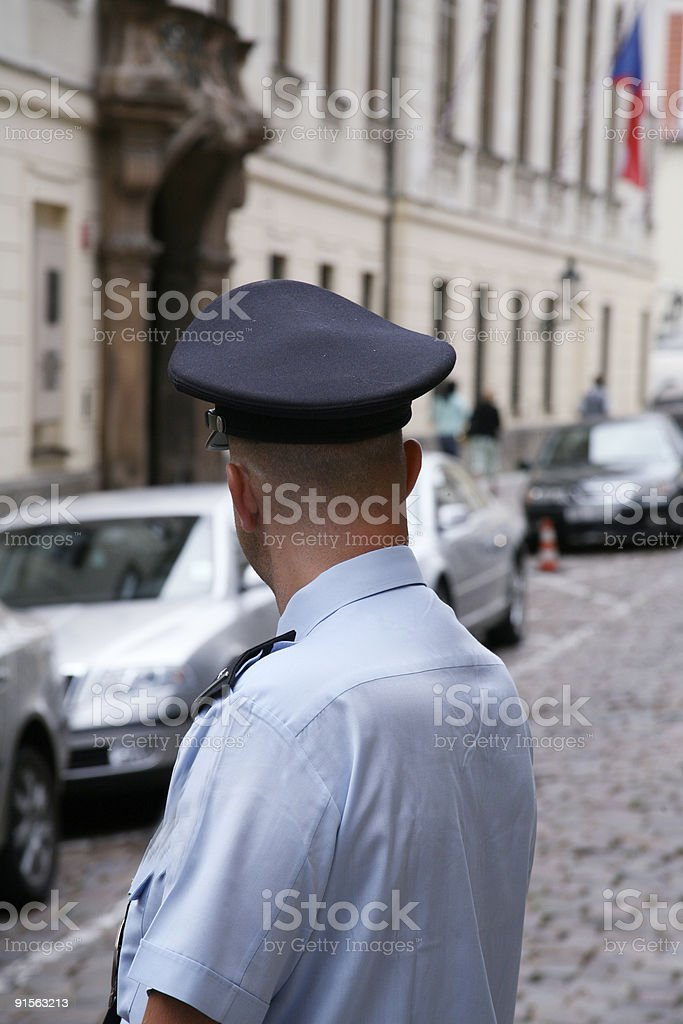 Czech policeman royalty-free stock photo