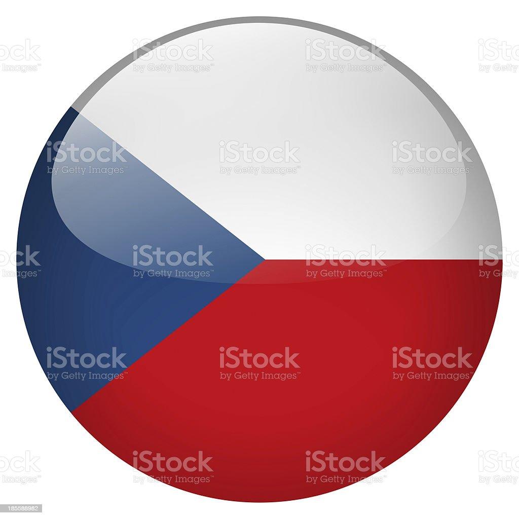 czech republic button royalty-free stock photo