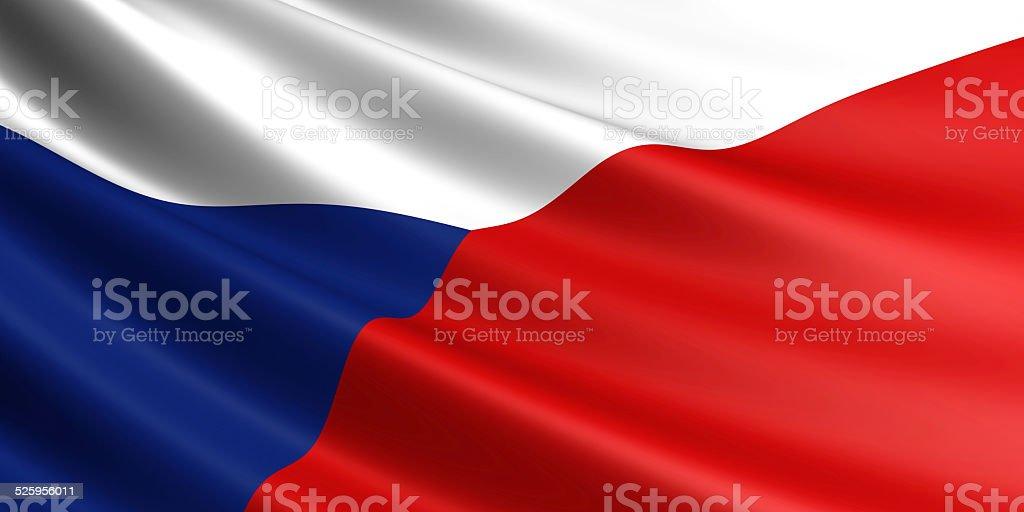 Czech Republic flag. royalty-free stock photo