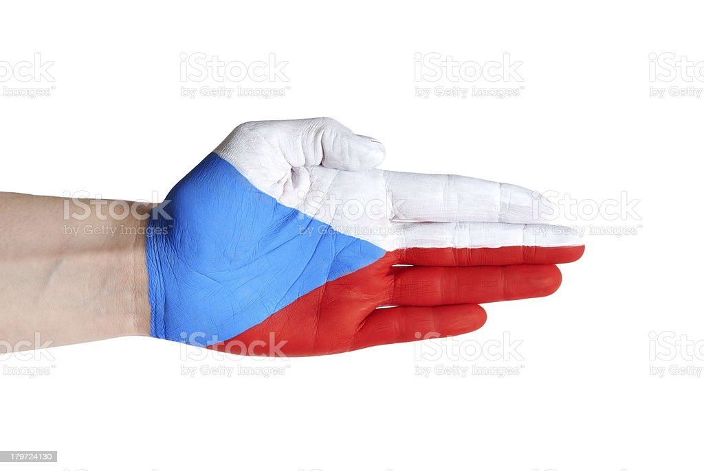 czech republic hand royalty-free stock photo