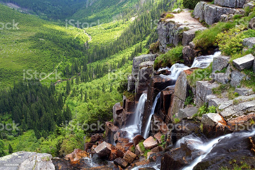Czech republic - Krkonose waterfall Pancavsky stock photo