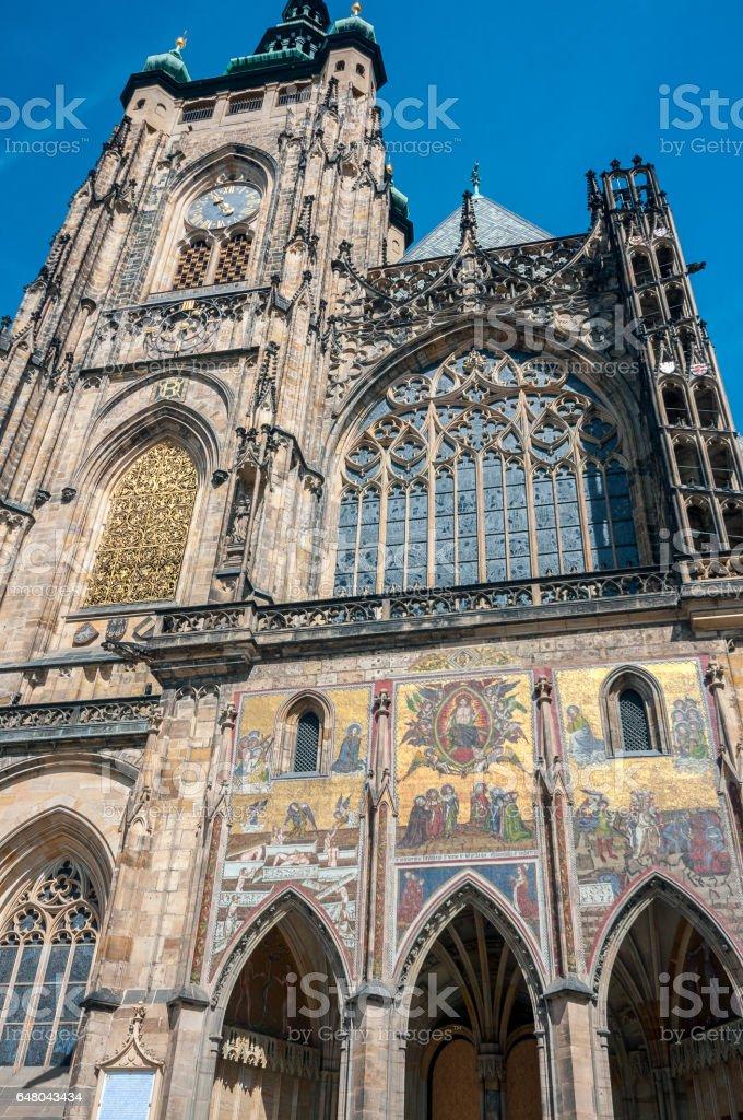 Czech Republic, Prague. The Metropolitan Cathedral of Saints Vitus. stock photo