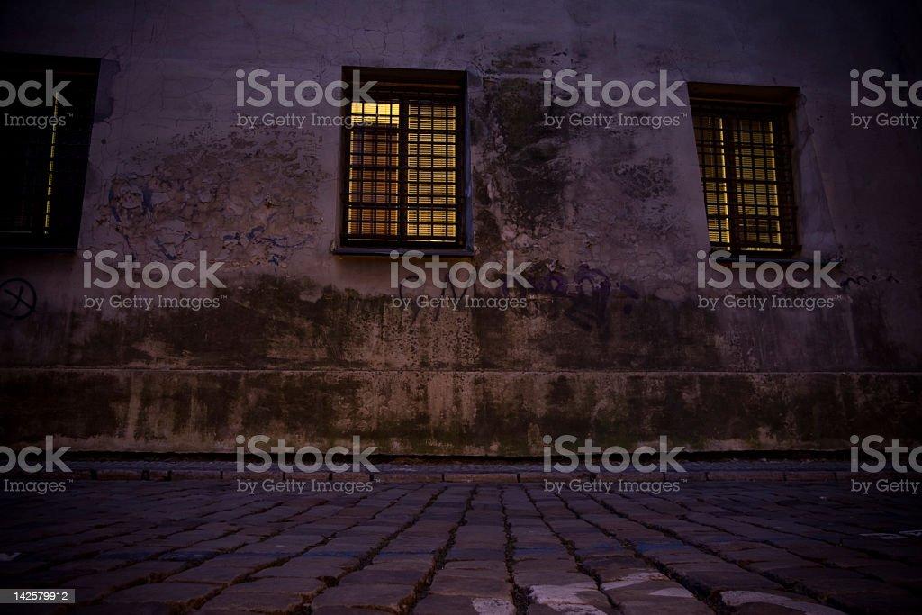 Czech Republic. Praha. Dark alley. royalty-free stock photo