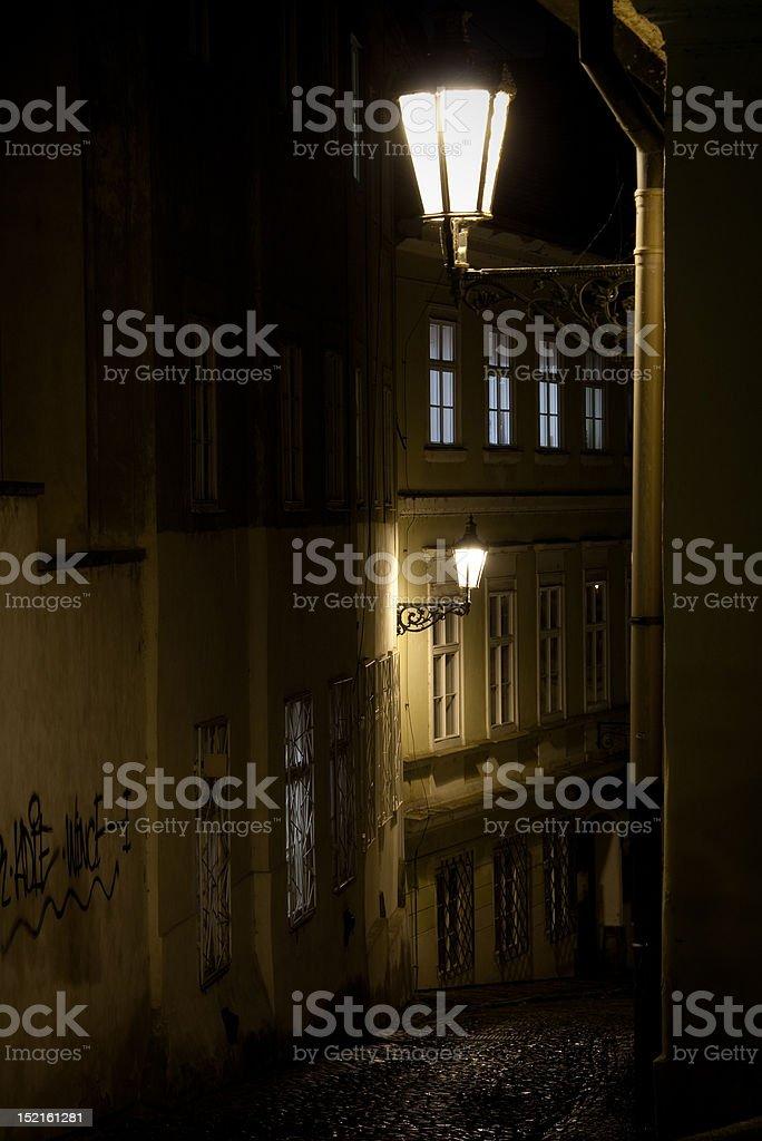 Czech Republic. Praha. Dark alley royalty-free stock photo