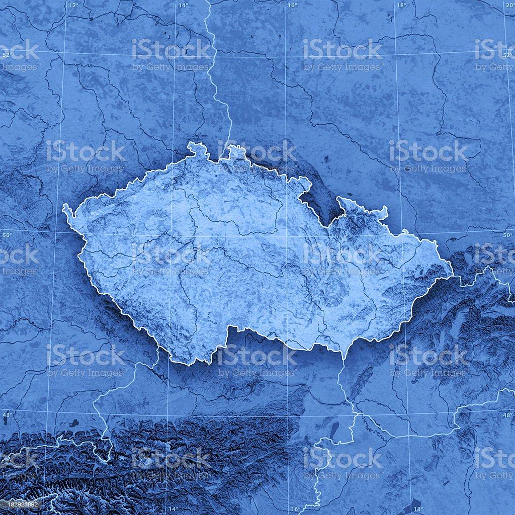 Czech Republic Topographic Map royalty-free stock photo