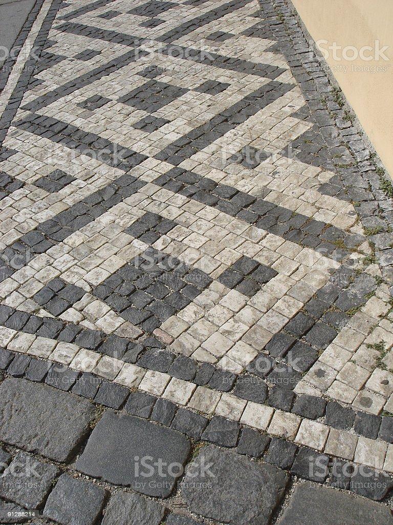 Czech Sidewalk royalty-free stock photo