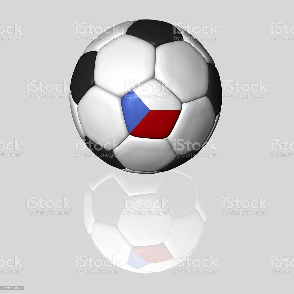 czech soccer ball royalty-free stock photo