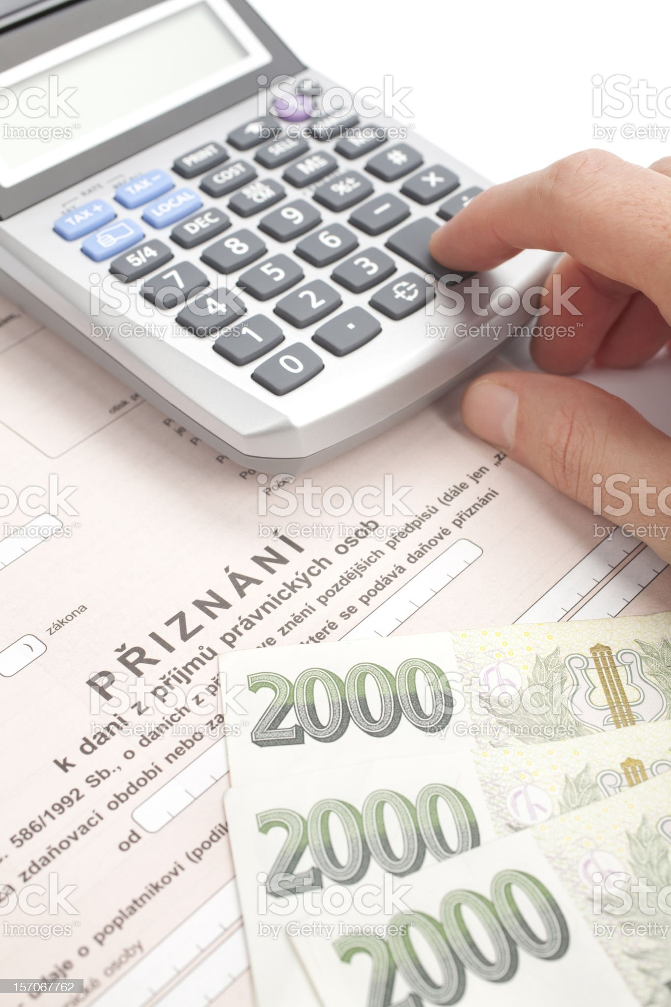 Czech tax form royalty-free stock photo