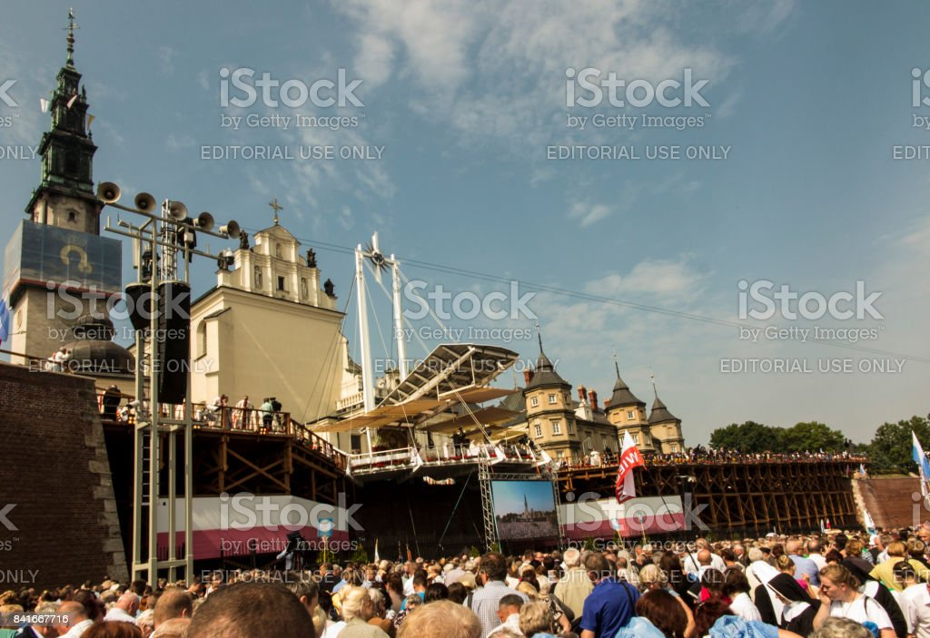 Czestochowa Jasna Gora, Poland, 26 August 2017: Solemnity of the anniversary of 300 years of the coronation of the image of the Częstochowa Mother of God stock photo