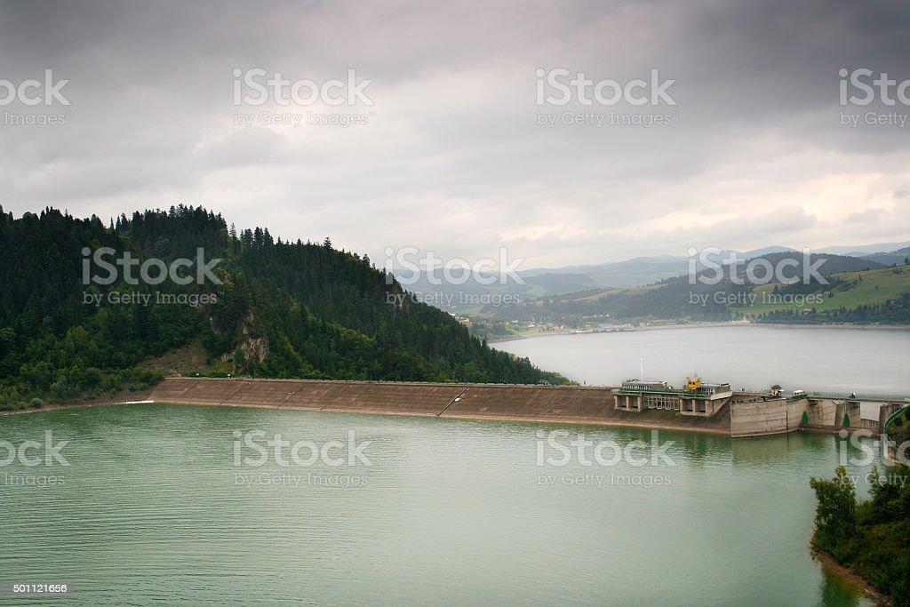 Czorsztyn Dam stock photo