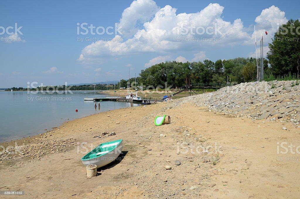 Czorsztyn lake in Poland stock photo