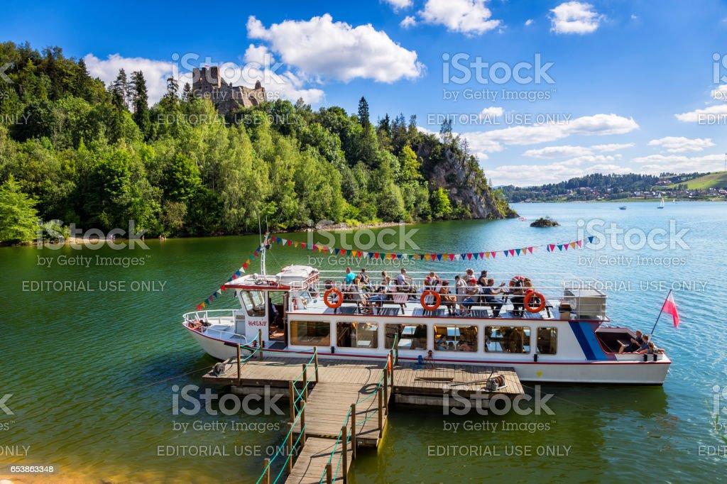 Czorsztyn Lake in summer, Poland stock photo